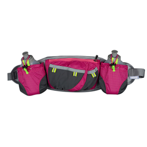 Bottle Outdoor Sports Waist Bag Hydration Running Pouch Belt with Two Bottle Holders RU81005