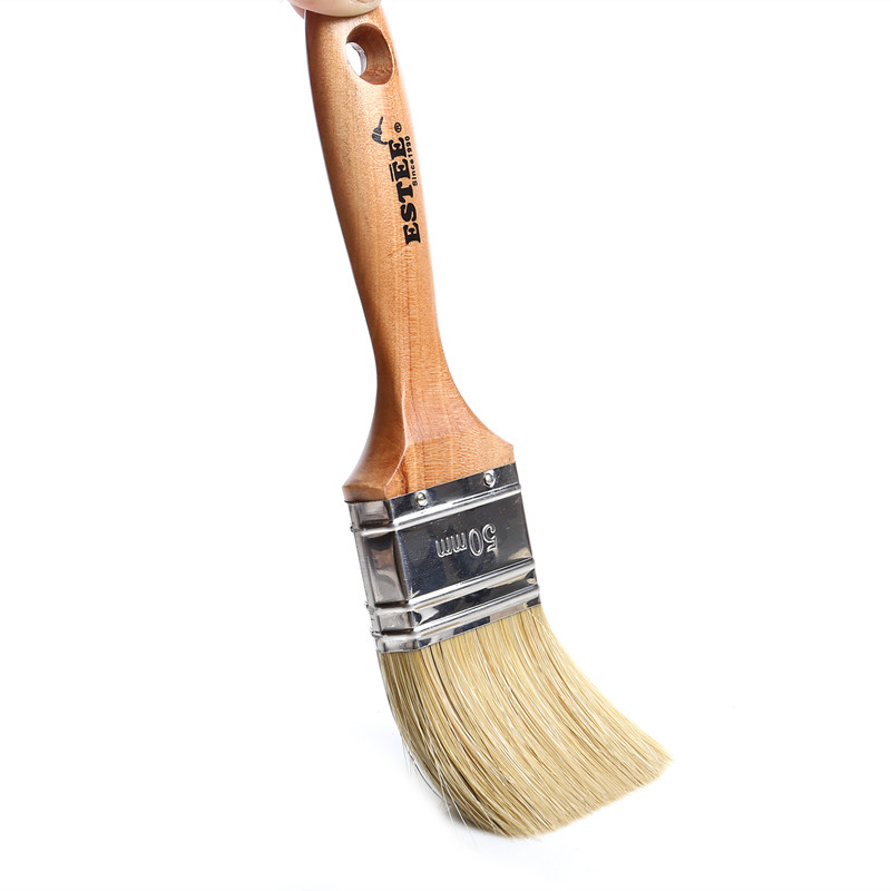 Natural Bristle And Varnish Wooden Handle