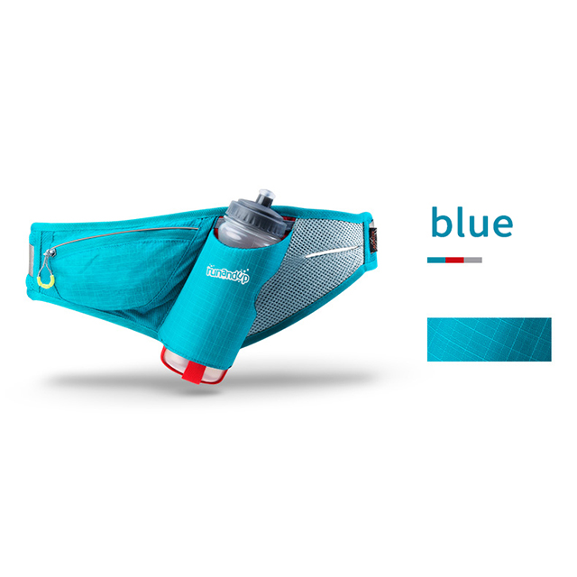 RU81034 Men Sports Running Belt with Bottle Women Outdoor Marathon Race Pouch Waist Bag Camping Hiking Gym Bag