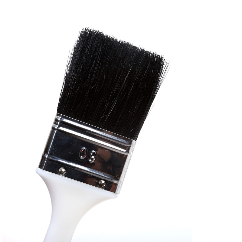 Thin Paint Brush with White Plastic Handle