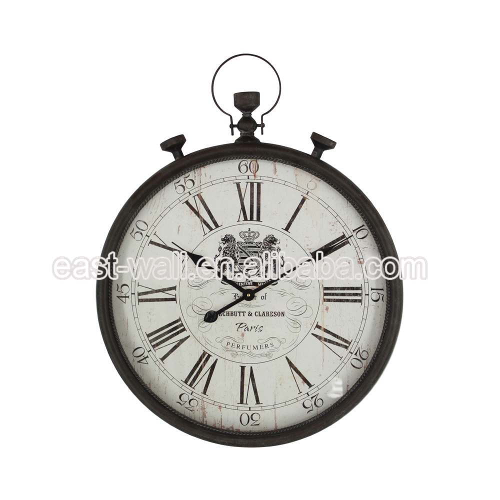 Good Quality Custom Logo Artwork Craft Antique Decorative Iron Wall Clock