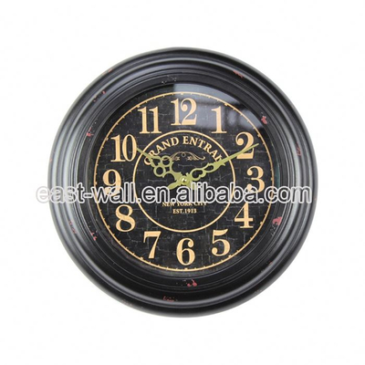Custom Print Fancy Antique Style Two Face Digital Wall Clock Thermometer