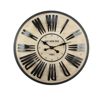 Round Shape Home Decoration MDF Antique Promotional Digital Wall Clock