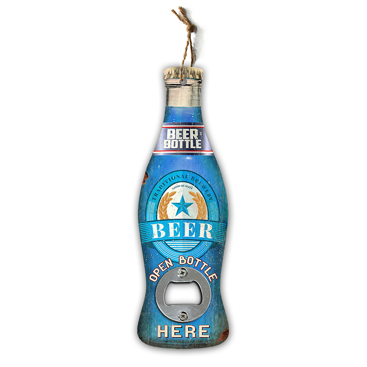 Custom cheap metal fancy colorful beer bottle openers