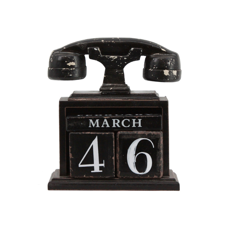 New Design Home Landline Shape Table Stand Calendar 2019