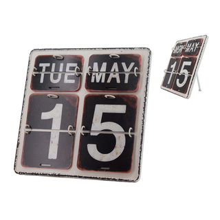 Vintage Style IRON Metal Calendar Home Office School Desk Decoration Gifts