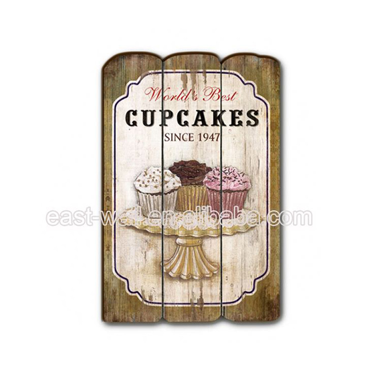 Custom Cupcakes House Used MDF Wooden Plaque Door Signs