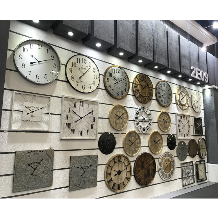 Hot Selling Vintage Modern Decorative Large Iron Wall Clock