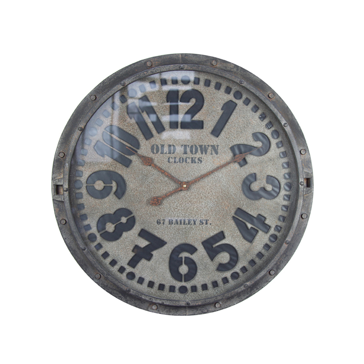 2018 New Style EA6339 Fashion Design Vintage Decorative Digital Wall Clock