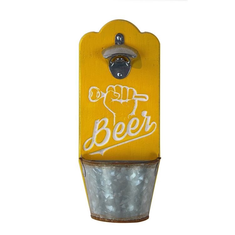 Personalized Customized Logo MDF Wall Mounted Bottle Opener