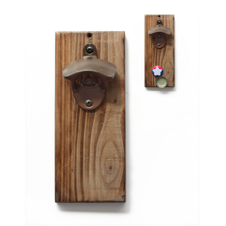 Hot Shell New Custom Home Essential Retro Style Wooden Bottle Opener