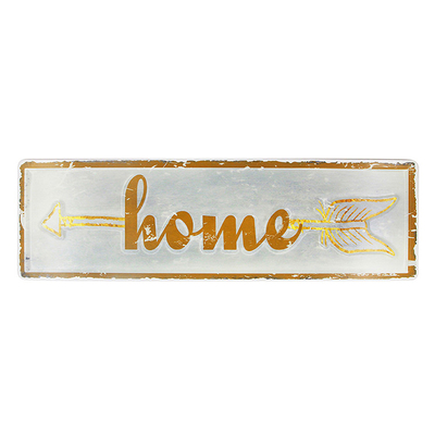 Decorative custom simple metal poster wall plaque metal