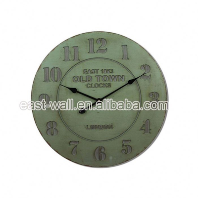 High Standard Antique Style MDF Poster Country Style Wall Clock Clocks