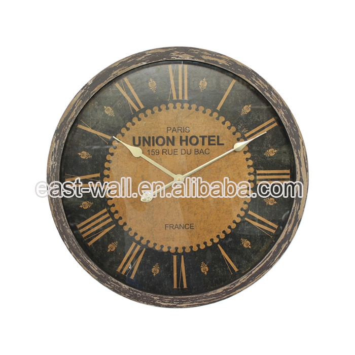 Cheap Price New Coming Customize Vintage Wood Stainless Wall Clock
