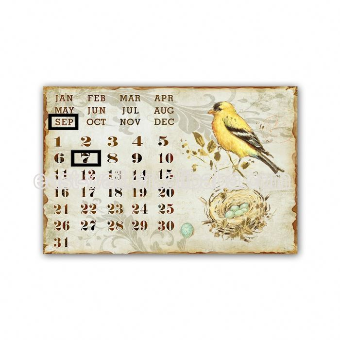 Custom Fit Calendar Decorative Wall Plaque Outdoor Decoration Garden Metal Craft Mannequin