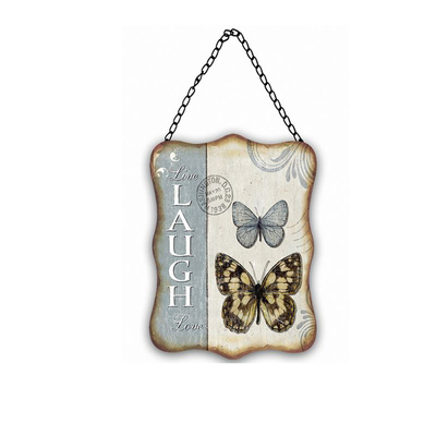 Custom Print Rustic Shield Plaque Blank Trophy Butterfly Plaques
