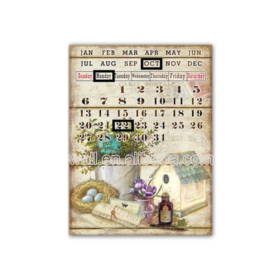 Nice Design Craft Art Calendar Tin Plaques Metal Craft Machine Bend And Twist
