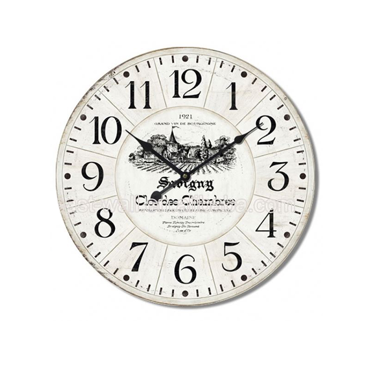 Manufacturers Retro Mdf Quart Wall Clock
