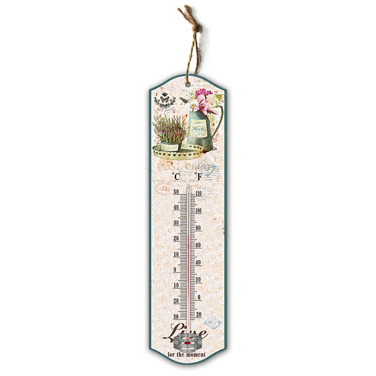 Simple clear reading temperature indoor/outdoor wall thermometer