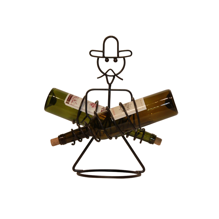 High quality Human Shaped Funny Wine Holder Rack Stainless Steel
