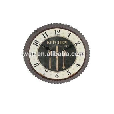 Boutique Decoration Interior French Style Wall Art Craft Bottle Cap Clock