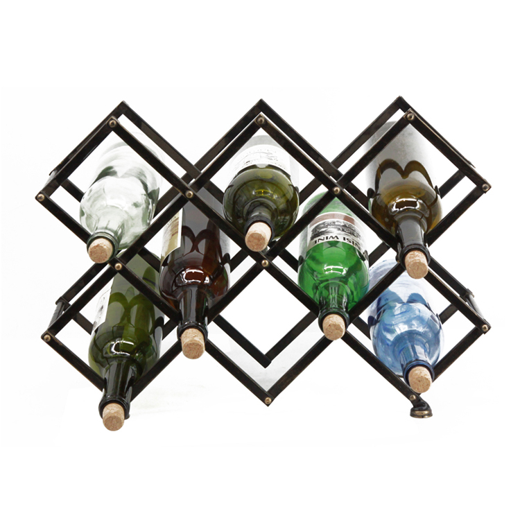 New Product Hot Sale Stackable Wine Rack Metal Wine Bottle Holder