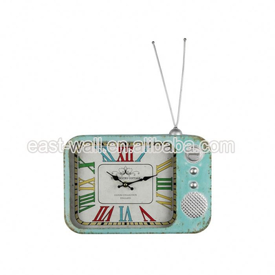 Vintage Style Mdf Wall TV Shaped Clock Manufacturer