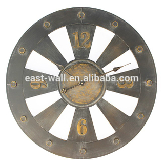 sanded wrought iron with screw decor industrial clocks