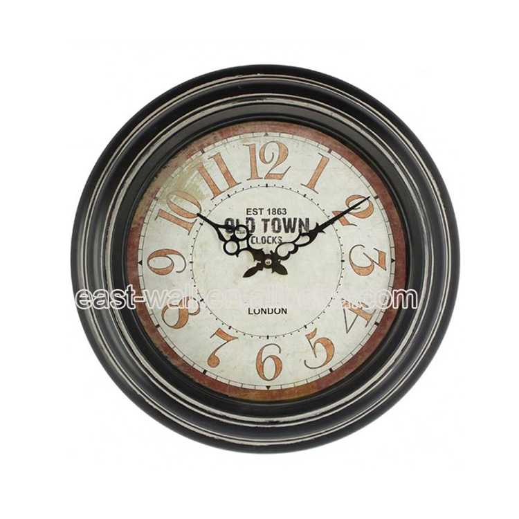 Quality Luxury Vintage Country Style Wooden Crafts Wall Clock