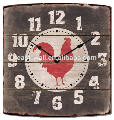 2016 New Coming Art Prints Animal Pattern Antique Style Rectangle Wall Clock