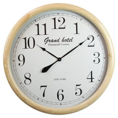 Indoor Number Premium Background Design Wall Clock Wood Modern