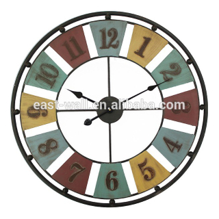 68.5x68.5x4.5cm multi color iron metal quartz clocks