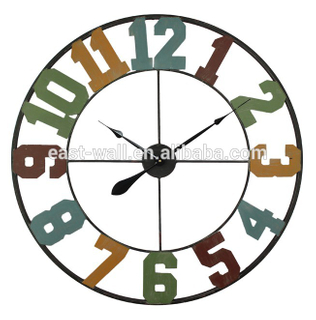 Home Decorative 80cm Kitchen Large Wall Clocks Old Town Clock