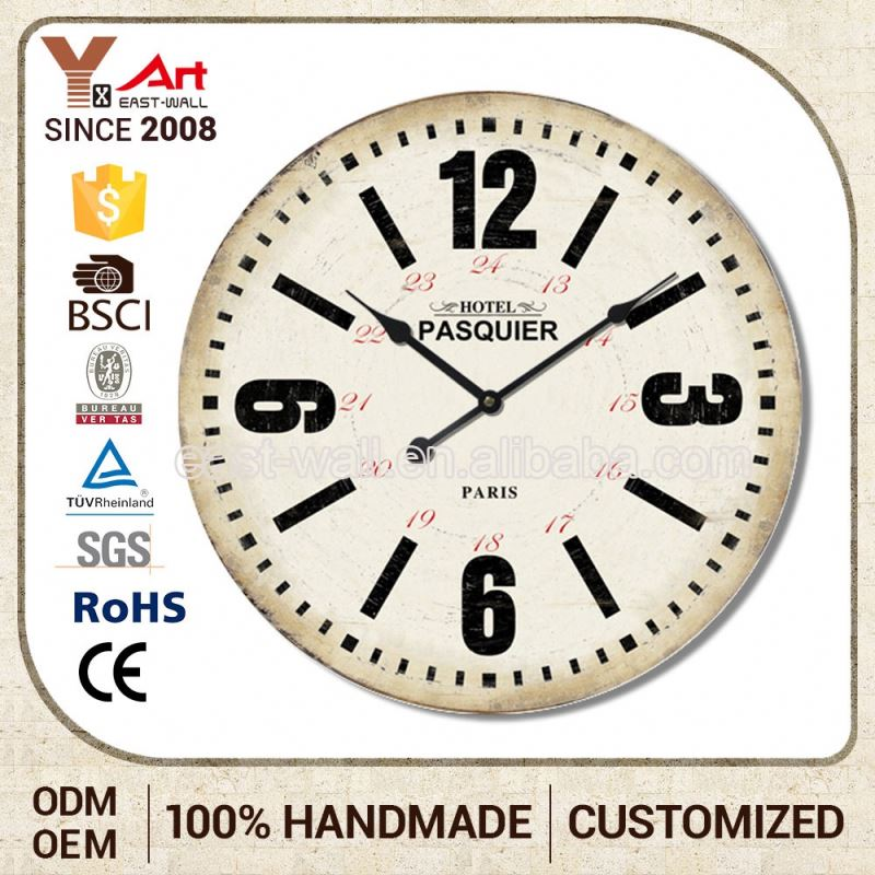 Competitive Price Custom Design Iron Office Clock Wall