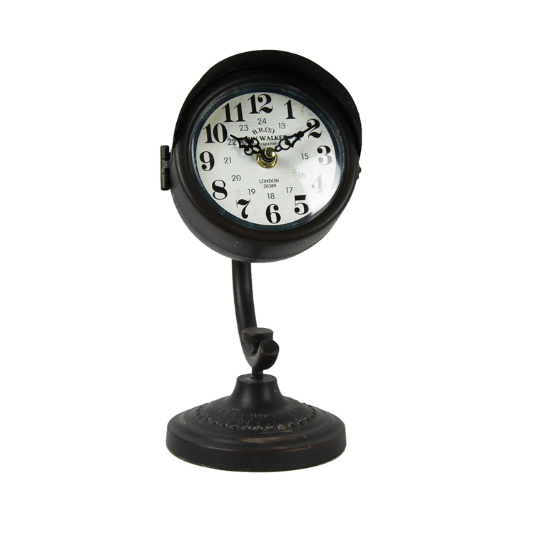 Reasonable Price Craft Decorative Antique Style Table Lamp Shape Clock for Living Room