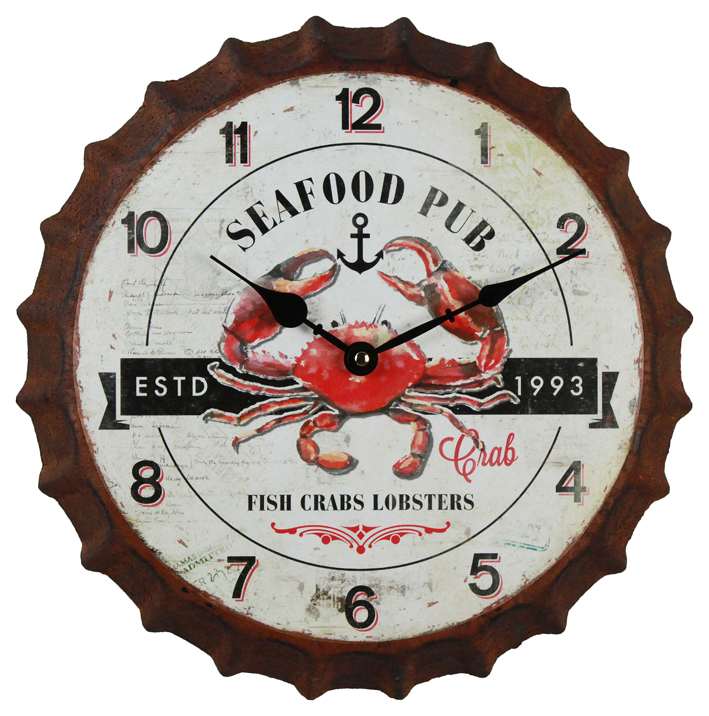 Unique Antique European Style Large Round Wall Clock, Bottle Cap Wholesale Contemporary Wall Clock