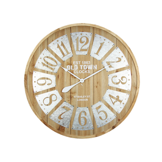 Vintage Rustic Custom Decorative Furniture Electronic Round Wall Clock