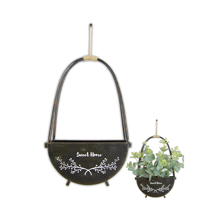 Customized Eco-friendly Balcony Iron Storage Flower Basket Box