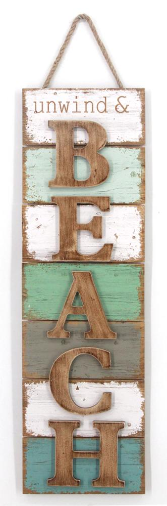 Custom Color Hanging Wall Decor Plaque Wood Word Sign