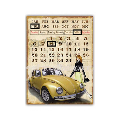 Quick Lead Retro Calendar Acrylic Wall Mount Plaque Metal Craft Furniture