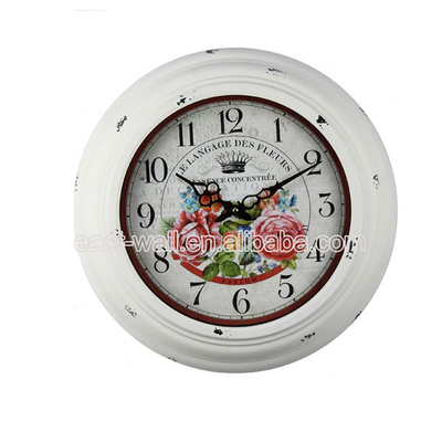 Custom Printed French Country Tuscan Style Antique Style Unique Tool Clock Hands