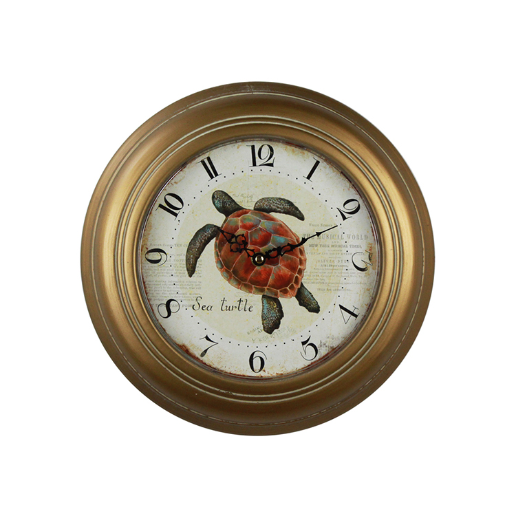 European Style Cheap Classic Vintage Wall Roman Numerals China Iron Decorative Clock