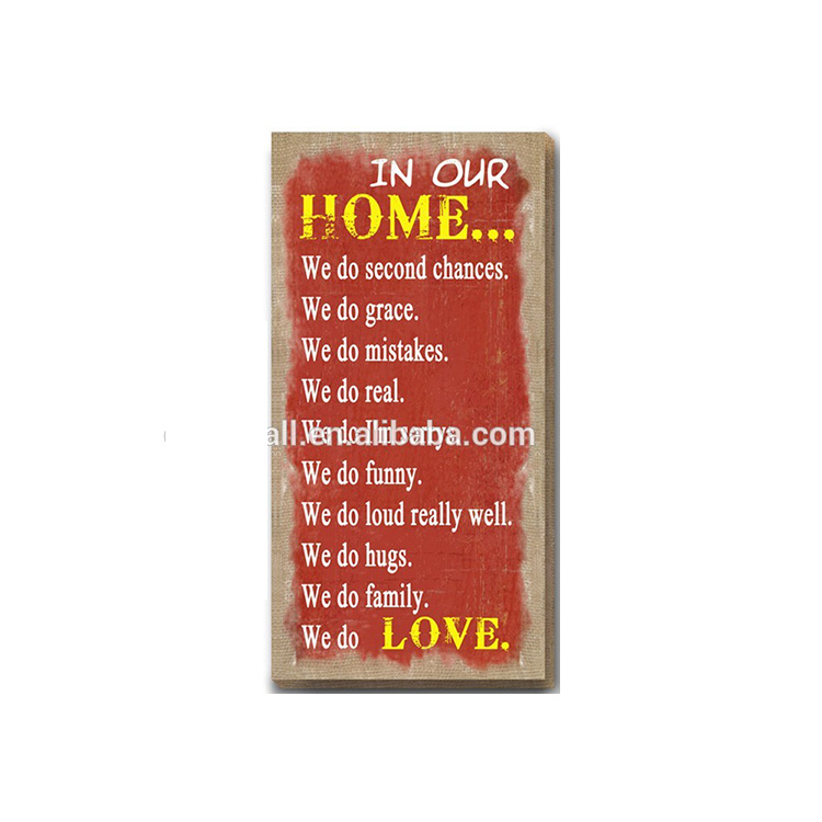 Vintage Home Decor Competitive Price Custom Logo Wall Hanging Drawing Plaque
