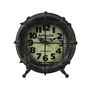 Hot New Products Customize Decorative Round Wall Clock Vintage Luxury With Tripod Support
