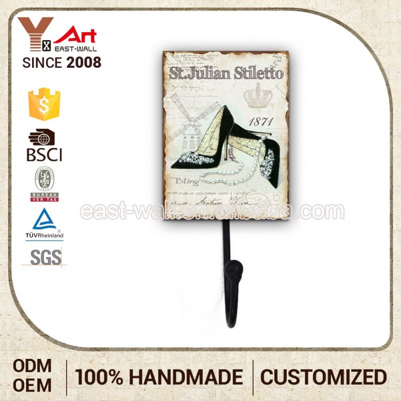 Nice Design Personalized Craft Art Key Hangers For Wall Metal Bag Hook