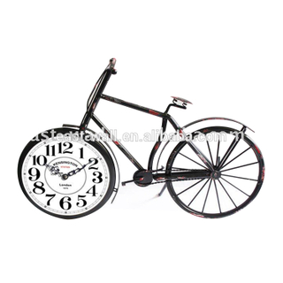 Antique Metal Craft Bike Clock Home Decoration