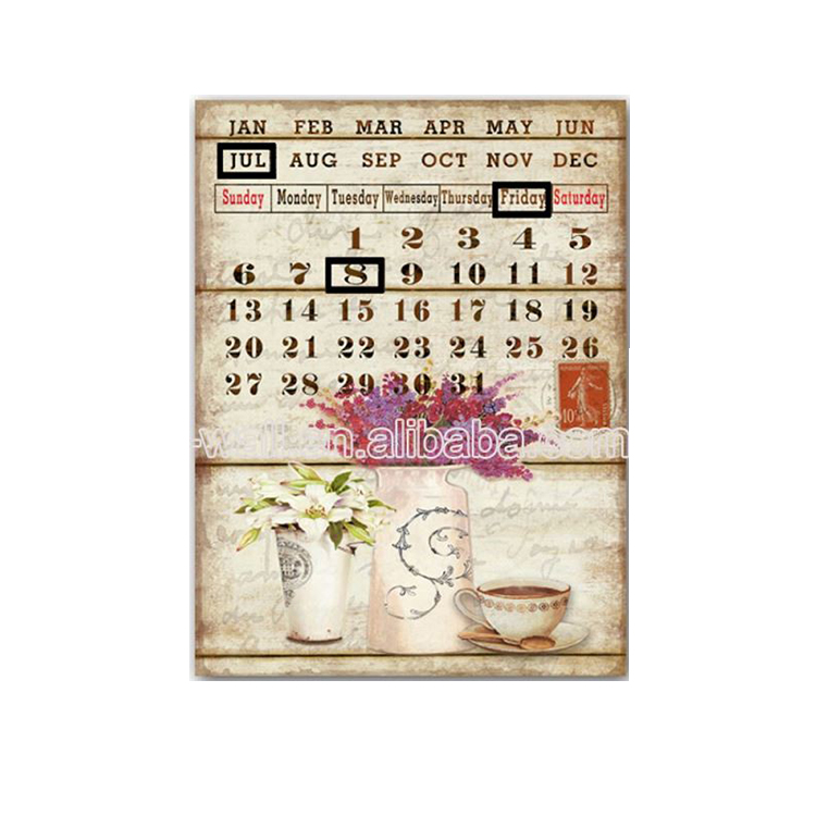 Promotions Custom Printing Logo Calendar Word Wall Acrylic Plaques