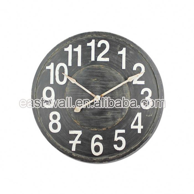 Direct Price Vintage Style Mdf Natural Stone Wall Clocks Clock Printing