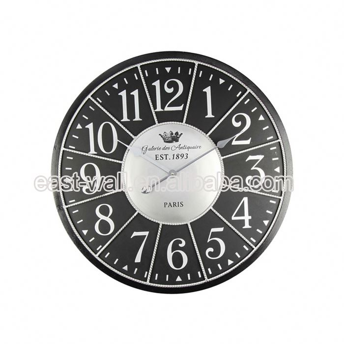 Custom Color French Country Tuscan Style Wall Clocks For Gym Interior Clock