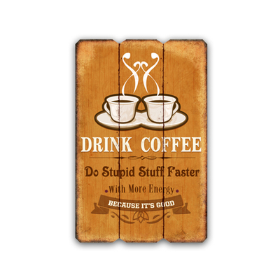 Home Decorative Vintage Wooden Word Sign Novelty Wooden Coffee Plaque Wall Hanging